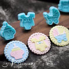 4Pcs Baby Plastic Fondant Stamp Cutters