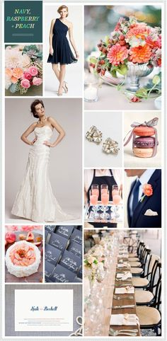 REVEL: Navy, Raspberry, Peach and Anne Barge » The Wedding Suite | Nordstrom.com