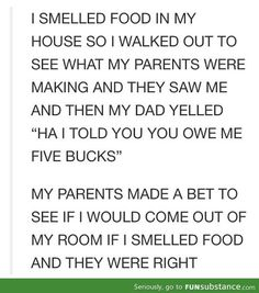 Parenting teenagers, my mom would do this.