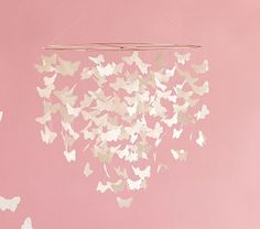 Let these baby mobiles hang overhead as your baby goes to sleep. Shop Pottery Barn Kids' crib mobiles featuring animal and nature mobile. Pottery Barn Kids, Pottery Barn Inspired, Butterfly Mobile, White Butterfly, Butterfly Room, Butterfly Gifts, Girl Nursery, Girl Room, Baby Room