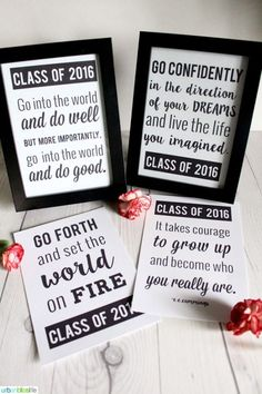 Graduation Quotes | Print these inspiring graduation quotes for any graduation get together. Or print and use as gift wrap! The possibilities are endless! Designed by UrbanBlissLife for Today's Creative Life