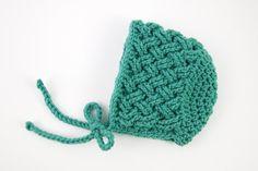 Celtic Dream Crochet Baby Bonnet   Such a cute stitch pattern for an adorable little hat