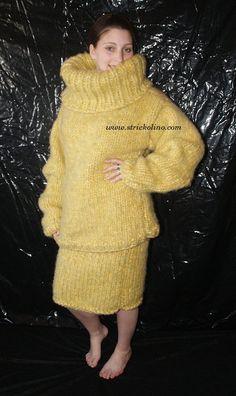 Mohair Set Pullover und Rock