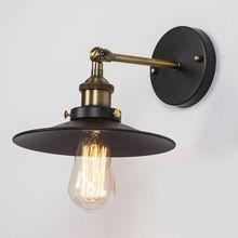 Vintage preto lâmpadas país da américa Retro armazém Industrial luzes de parede de restaurante estudo sótão Home Lighting E27 titular(China (Mainland))