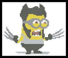 BOGO FREE Cross stitch pattern MINION X-Men Wolverine pdf