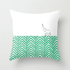 Elephant Throw Pillow by Dungo - $20.00