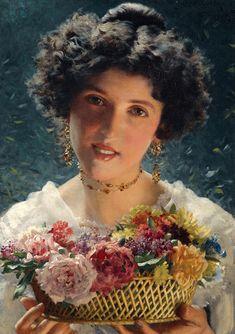 Ladislas Wladislaw von Czachorski (Polish,1850 - 1911)The Boquet