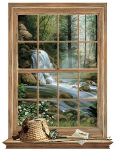 Waterfall Mural Art Print Poster Wall Mural at AllPosters.com