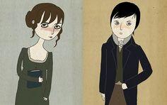 Elizabeth Bennet & Mr. Darcy Ill. Nan Lawson