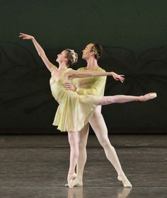 """Sterling Hyltin and Tyler Angle in """"Spring"""" from Jerome Robbins' The Four Seasons © Paul Kolnik."""