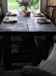 linna pöytä kynttilöillä