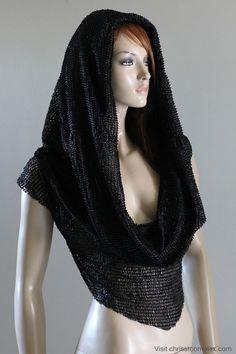 Gothic Goth Medieval l Hoodie Hood Scarf Hat Tshirt by chrisst, $120.00