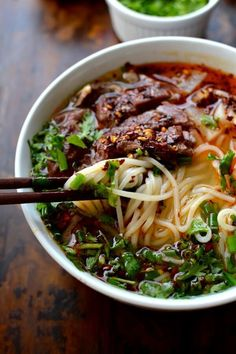 Lanzhou Beef Noodle Soup A flavorful broth shaved beef tender radishes herbs chili oil and chewy noodles Asian Recipes, Beef Recipes, Cooking Recipes, Healthy Recipes, Ethnic Recipes, Fast Recipes, Vietnamese Recipes, Chinese Soup Recipes, Healthy Food