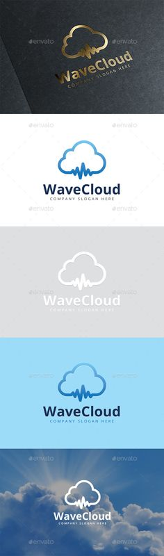 Wave Cloud Logo — Vector EPS #company logo #wave clod logo • Available here → https://graphicriver.net/item/wave-cloud-logo/9025478?ref=pxcr