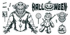 Monochrome Joker vector design illustrations. Find cool Halloween t-shirt designs on our website.