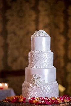 Wedding Cakes anyafoto.com #wedding #weddingcakes, wedding cake ideas, wedding cake desings, white wedding cake, 4 tier wedding cake, white rose wedding cake, sugar flowers, satin wedding cake, quilted wedding cake