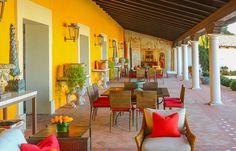 Spanish Mediterranean Hacienda Outdoor Terrace