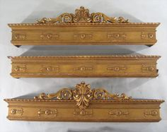 1 of 4 : 3 Renaissance Revival Giltwood Window Cornices, American, Circa 1880 Victorian Window Treatments, Victorian Windows, Victorian Homes, Window Pelmets, Wood Valances For Windows, Bed Crown Canopy, Door Frame Molding, Cornice Boards, Homemade Home Decor