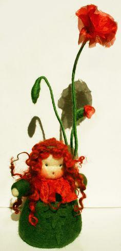 Blumenkind Mohnblume