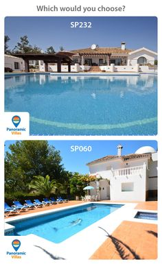 Which of these beautiful large villas on the Costa del Sol would you go for? Beachfront bathing in SP232, Estepona: http://www.panoramicvillas.com/…/spain/estepona/villa-sp232/ or Countryside relaxation in SP060, Campo Mijas: http://www.panoramicvillas.com/…/s…/campo-mijas/villa-sp060/ #Estepona #Mijas