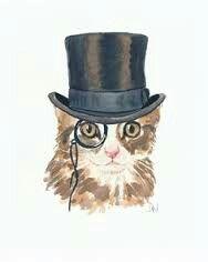 Cat in a top hat