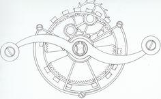watch mechanism sketch - Google Search