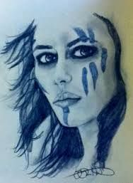 "Warriors: ""Pict Warrior Woman,"" by at deviantART. Warrior Queen, Viking Warrior, Fantasy Warrior, Fantasy Art, Viking Face Paint, Viking Makeup, Tribal Face Paints, Celtic Warriors, Female Warriors"