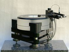The Norwegian Air Tangent 2001 turntable and air bearing reference tonearm.