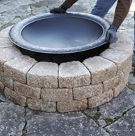 A Quick and Easy Do It Yourself Firepit Surround -