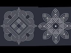Padi kolam// sankranthi muggulu 2019 // latest rangoli - YouTube Rangoli Designs Latest, Latest Rangoli, Simple Rangoli Designs Images, Rangoli Designs Flower, Rangoli Border Designs, Rangoli Patterns, Rangoli Designs With Dots, Beautiful Rangoli Designs, Mehndi Designs
