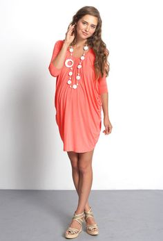 b6d11dff87276 Cocoon Drape Maternity Nursing Dress - Nectarine sizes S, M, XL. Cute  Maternity DressesMaternity ...