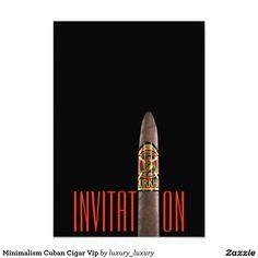 Minimalism Cuban Cigar Vip 9 Cm X 13 Cm Invitation Card