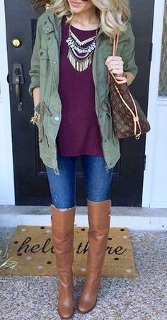 #fall #fashion / burgundy boots