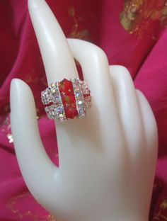 Red Cocktail Bling Ring