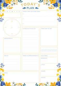 New Cost-Free daily planner binder Ideas Paper planners are effective only if you utilize them properly and regularly. Below are a few ways t To Do Planner, Daily Planner Pages, Study Planner, Free Planner, Planner Template, Monthly Planner, Schedule Templates, Daily Planners, 2015 Planner