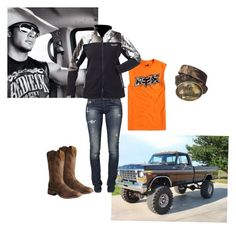 Untitled #38 by reptilegirl99 on Polyvore featuring polyvore, fashion, style, Fox, Realtree, GUESS and Nocona