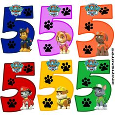 Números personalizados Patrulha canina - *5 Paw Patrol Cake, Paw Patrol Party, Paw Patrol Birthday, Paw Patrol Clipart, Paw Patrol Rocky, Dog Themed Parties, Fireman Party, Hot Wheels Party, Kids Scrapbook