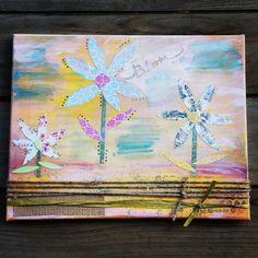 #mixedmedia #paint #acrylic #canvas #whimsical #angels #feminine #art #herspiritwings