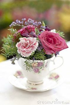 cup of rose and flowers.....<3**
