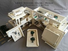 """LEGO Modern House - Redux - in the Style of Mid-Century Modern Architecture by Bricksare4me - as seen at BrickCan 2016 in Vancouver BC - awarded """"Best Edifice"""" - roof removable in 3 sections"""