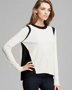 JAMISON Color Block Silk Sweater ~ $198