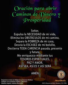 Spanish Prayers, Miracle Prayer, Prayer Warrior, God Loves You, Spanish Quotes, Good Vibes, Gods Love, Tarot, Religion