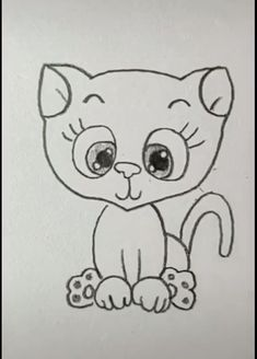 Cat Drawing Easy drawings for kids easy Cat Drawing Easy Puppy Drawing Easy, Simple Cat Drawing, Cat Face Drawing, Yoda Drawing, Cute Easy Drawings, Art Drawings For Kids, Cat Cartoon Drawing, Alphabet Drawing, Easter Drawings