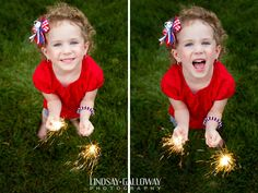 Sparkler Fun!! | Lindsay Galloway Photography #Sparklers #4thofJuly