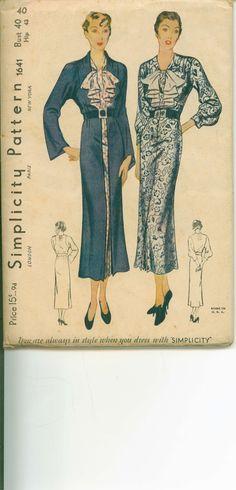 (¯`'•.ೋ GORGEOUS 1930's Pattern for a Dress and Coat  by shellmakeyouflip