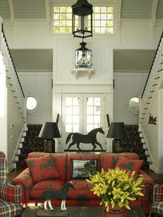 Horse print sofa