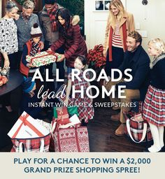 Enter the Lands' End Holiday Sweepstakes for a chance to win eGift Cards every day, plus the grand prize of a $2,000 Lands' End shopping spree.