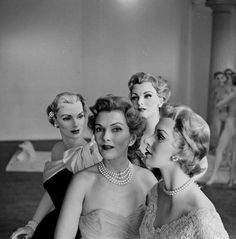 Models and mannequins photographed by Nina Leen, 1950s.