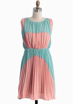 Lovely Rhapsody Colorblocked Dress $46.99