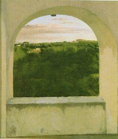 Edgar Degas - Italian landscape seen through an arch, 1856.
